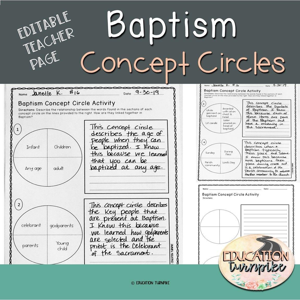 Baptism Concept Circle Activities