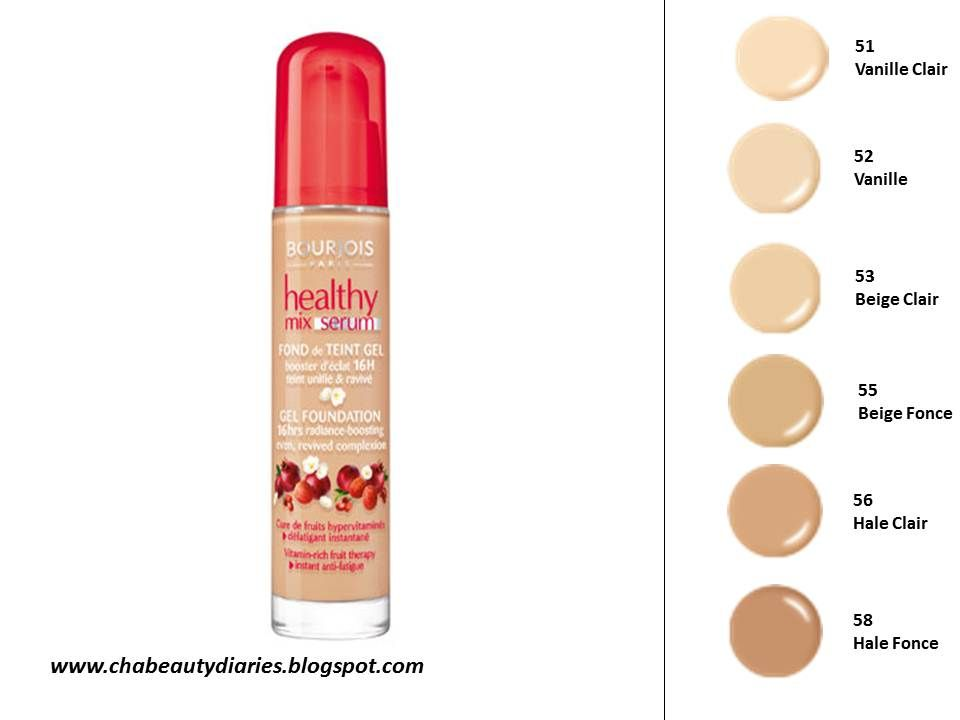 Bourjois Healthy Mix Radiance Reveal 51 Winter 55 Tan Bourjois Healthy Mix Foundation Shades Bourjois Healthy Mix Foundation Bourjois Cosmetics