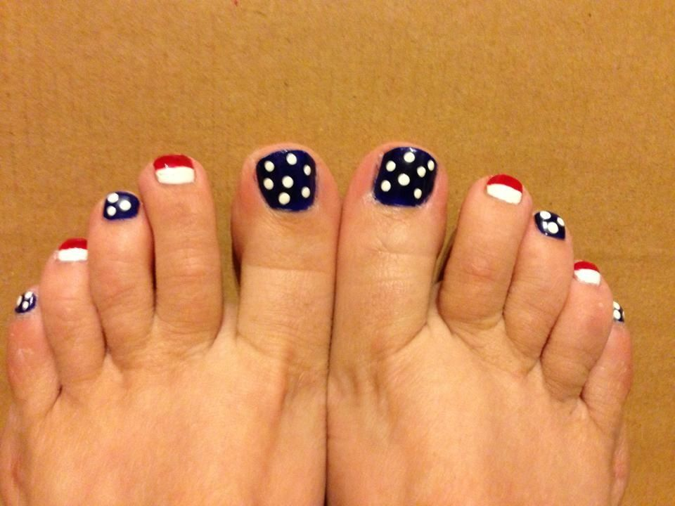July 4th toes | Nails and toes | Pinterest