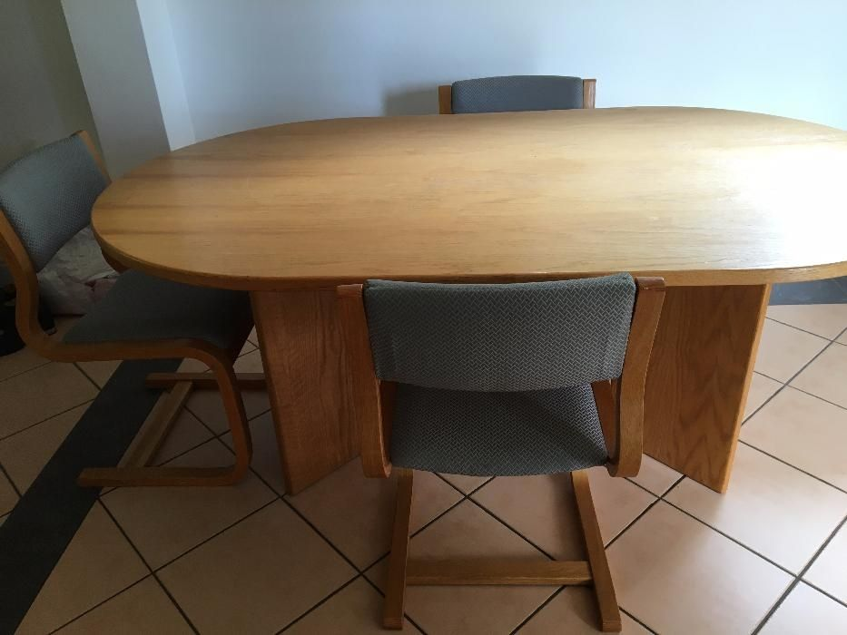 Oak Wood Dining Room Table And Chairs Constantia Olx Picclick