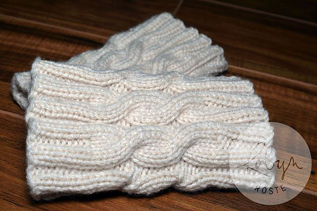 Ravelry: Simple Cabled Boot Cuffs pattern by Robyn Roste | knitting ...