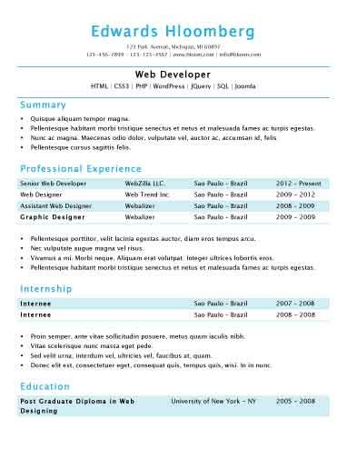 In a Nutshell - Free Resume Template by Hloom because you - resum template