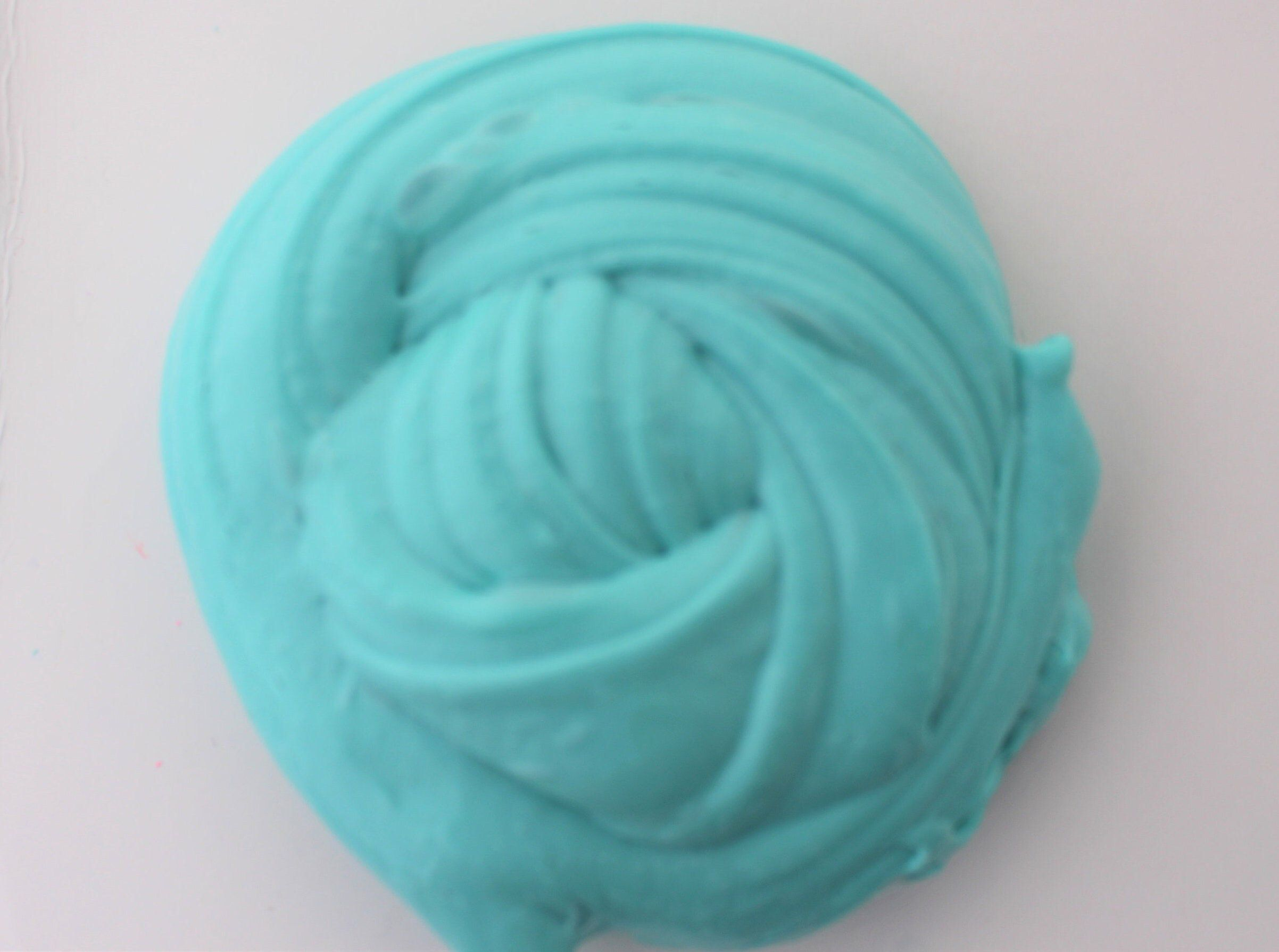 Turquoise Slime Butter Clay Fluffy Putty 8oz uk Seller Slime activator