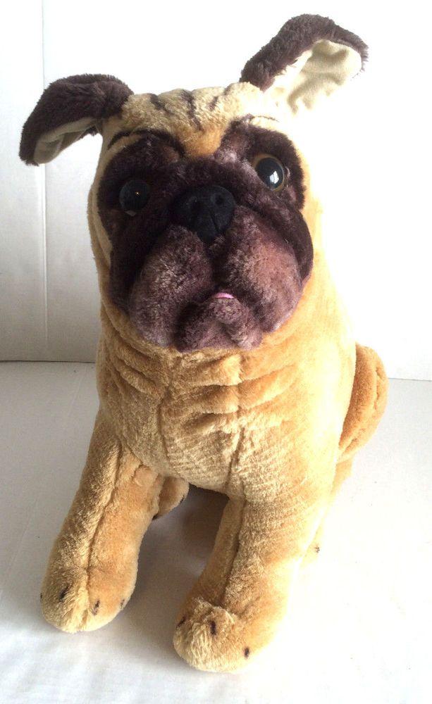 Large Pug Plush By Melissa Doug Lifelike Lovable Soft Stuffed