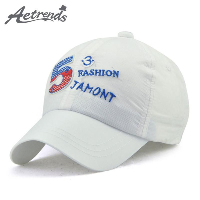 AETRENDS  2017 Summer Boys Hats Quick Dry Thin Breathable Kids Baseball  Caps Snapback Bone 0a99d0460535