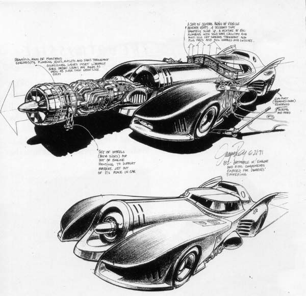 Batman Arkham Knight Batcave: Batmobile Schematic