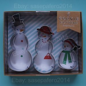 Christmas Snowman Cookie Cutters Designed In England By Meri Meri 3