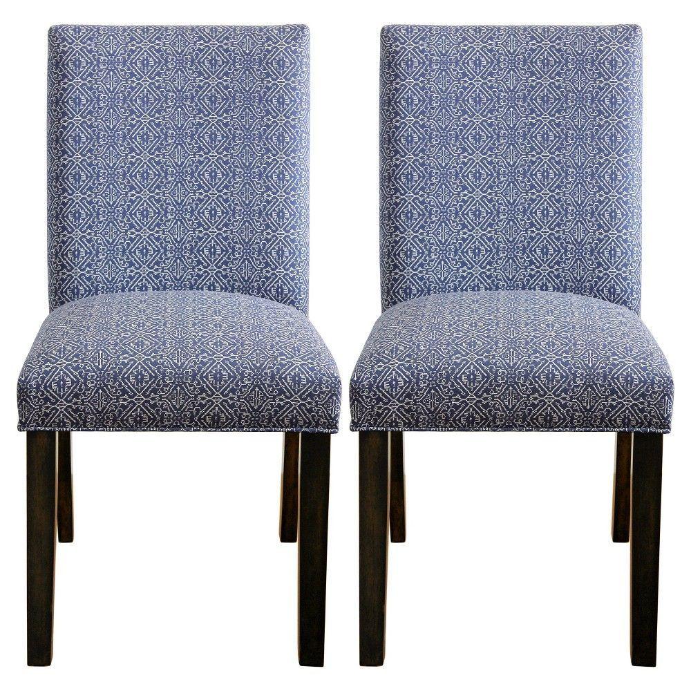 Parsons Dining Chair Priya Blue Set Of 2 Threshold Dining