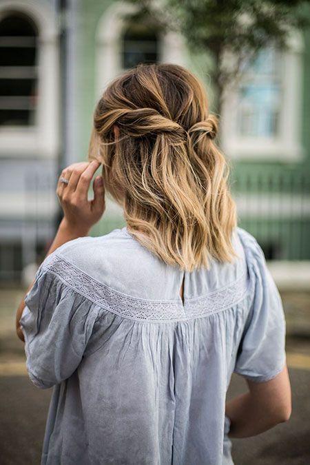 25 Prom Frisuren für kurzes Haar - Einfache Frisur #hair