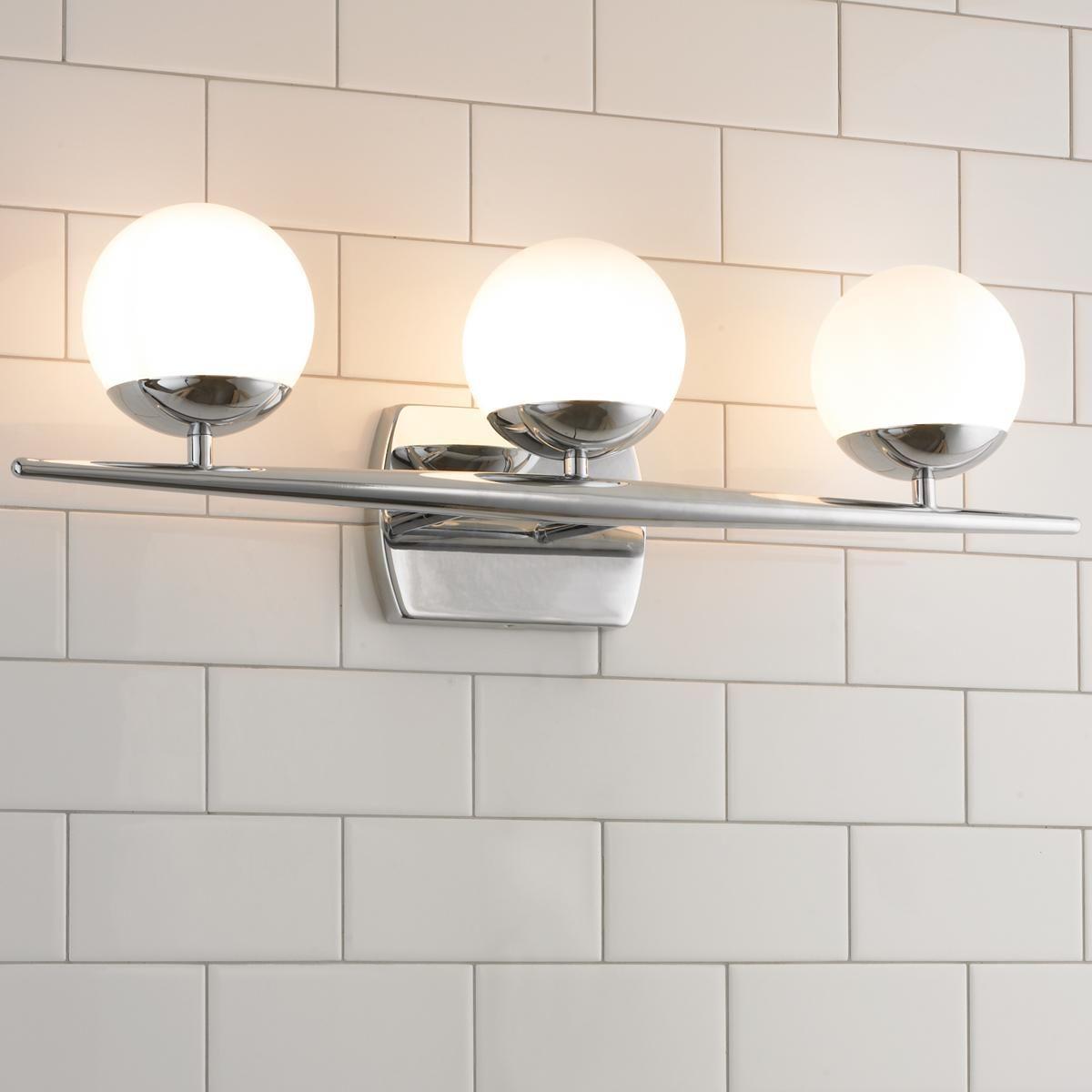 Linear Globe Bath Light 3 Light Bathroom Light Fixtures Contemporary Bathroom Lighting Bath Light