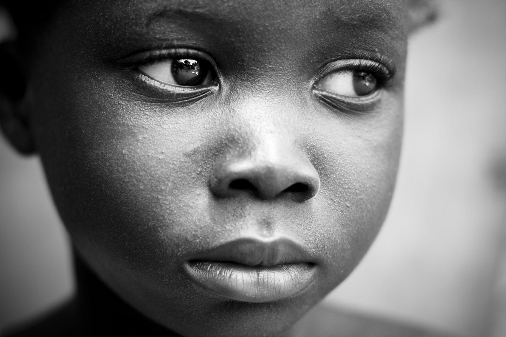 Sad african children