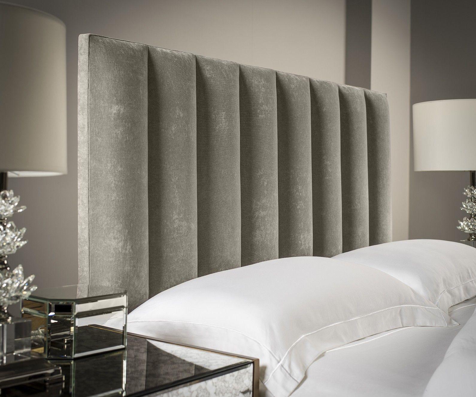 Tubes Vertical Upholstered Headboard in 2020 Bed