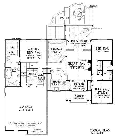 Pin By Mary Woofter On Don Gardner Houses Ranch Style House Plans Floor Plans Floor Plan Design