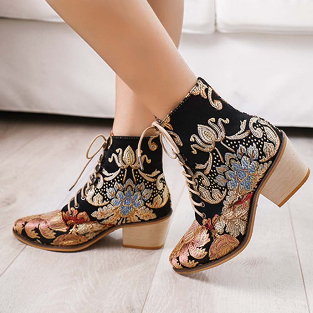 LOSTISY Large Size Women Summer Boots Pointed Toe