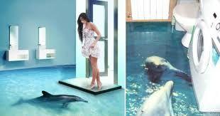 Resultado De Imagen Para De Tiburones En 3d Pisos Piso De Porcelanato Pisos De Porcelanato Liquido