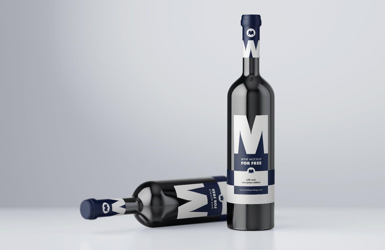 Download Free Wine Label Mockup Psd Free Mockup Bottle Mockup Free Wine Beer Bottle Design