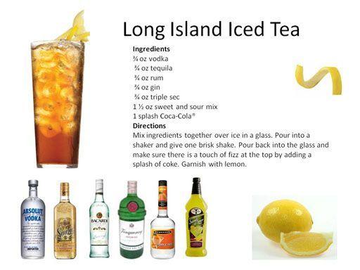 Long island iced tea drinks on deck pinterest iced for Drinks with iced tea