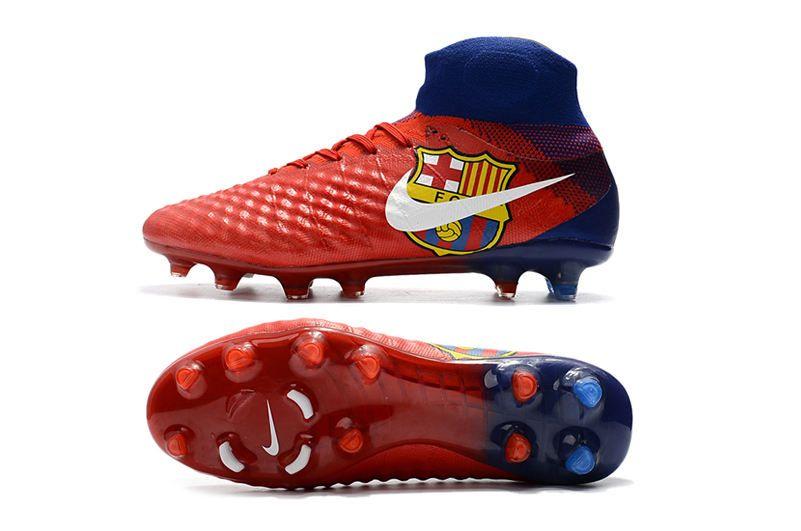 super popular a1614 2e04f Botas de Futbol Nike Magista Obra 2 FG ACC Barcelona Rojo