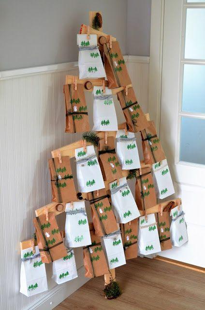 Deko Hus DIY Adventskalender selber machen für Kinder oder Mann - wohnung dekorieren selber machen