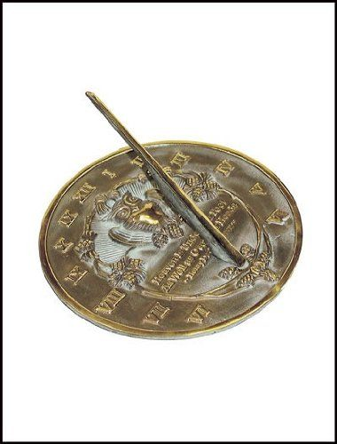 Rome 2329 Thoreau Sundial, Solid Brass With Verdigris Highlights, 8.5-Inch Diameter, 2015 Amazon Top Rated Sundials #Lawn&Patio
