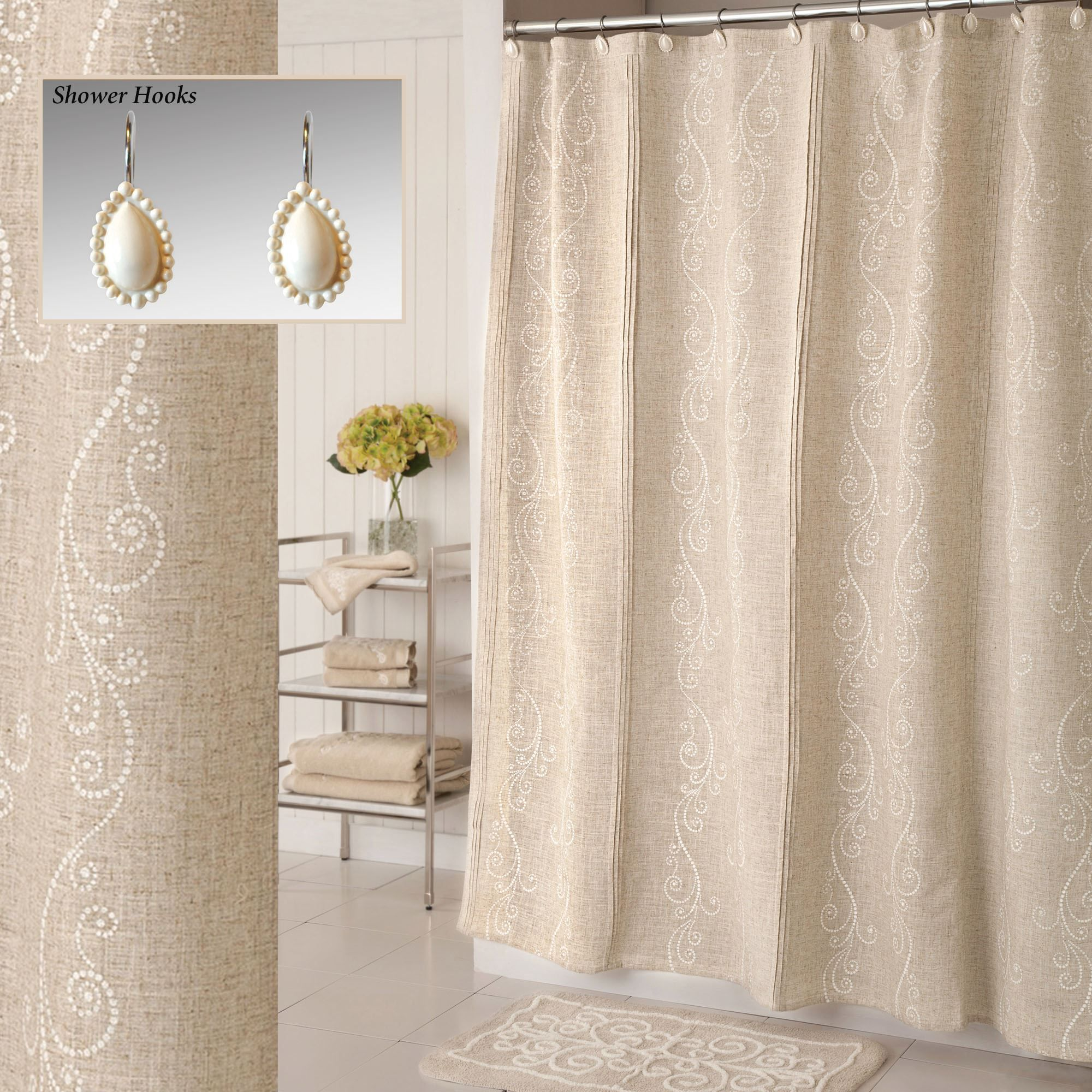 Awesome Lenox French Perle Beige Shower Curtain