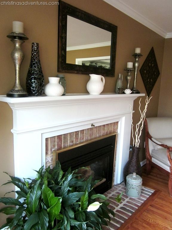 38 Best Design for Fireplace with Red Brick #whitebrickfireplace