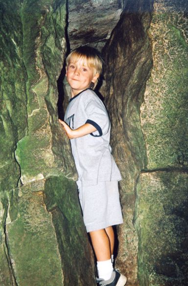 Boy in Fat Man's Misery Cave