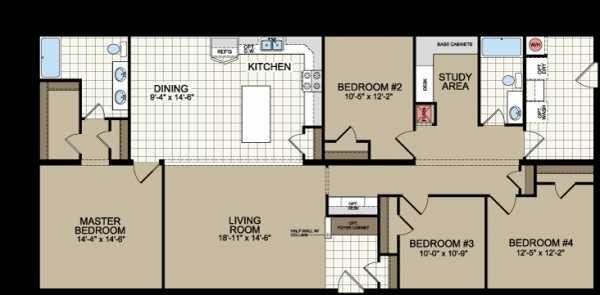 Floor Plan Of Redman Homes Mobile Manufactured Home Via