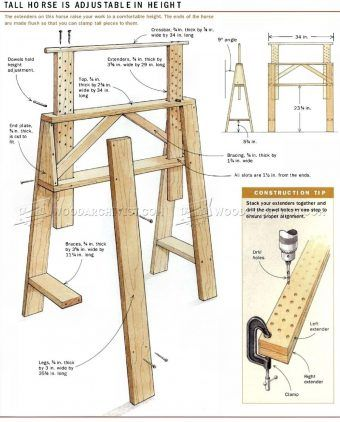 #1425 Sawhorses for The Shop - Workshop Solutions Plans, Tips and Tricks                                                                                                                                                                                 Mehr