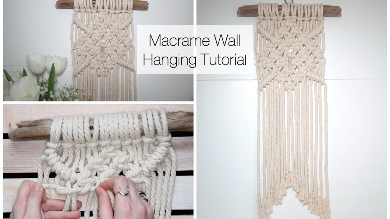 How To Make A Macrame Wall Hanging Tutorial For Beginners Macrame Wall Hanging Tutorial Macrame Wall Hanging Diy Macrame Wall Hanging Patterns
