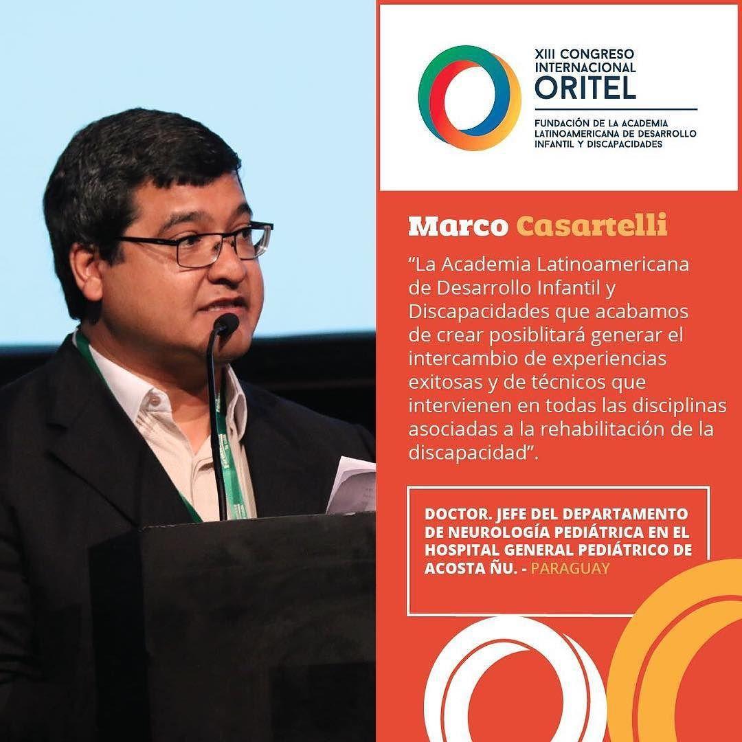 """""""Hay mucha gente con vasta trayectoria en el área pero los foros de discusión son escasos"""" Así lo expresó el Dr. Marco Casartelli en su discurso de apertura del #CongresoORITEL"""