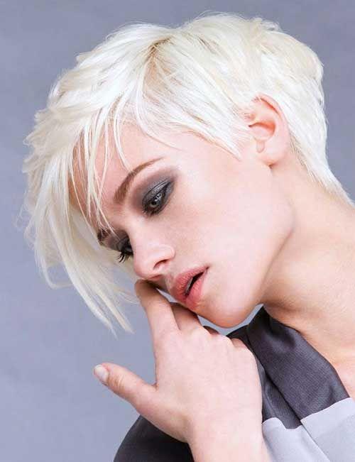 Moderne asymmetrische frisuren