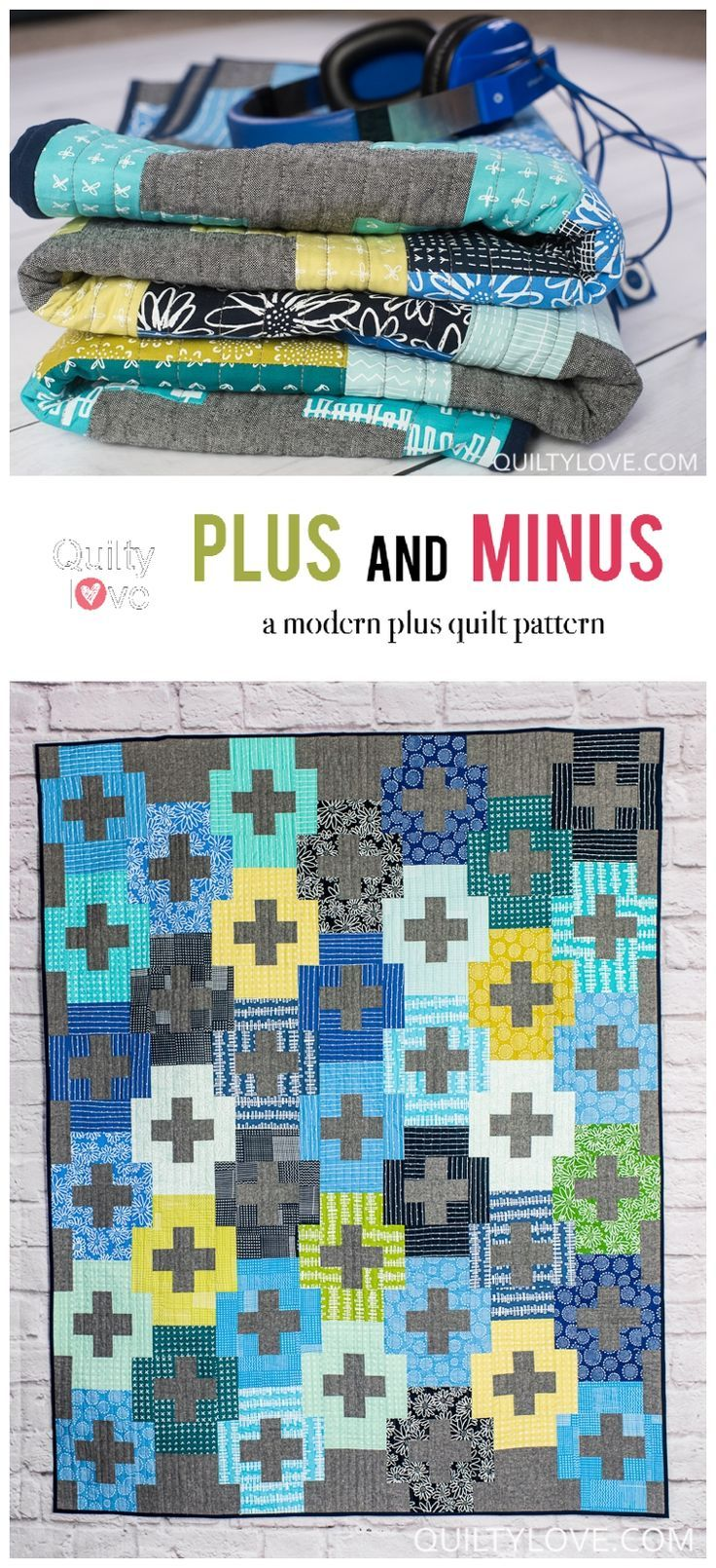Blueberry Park Plus And Minus Quilt Easy Plus Quilt Fat Quarters