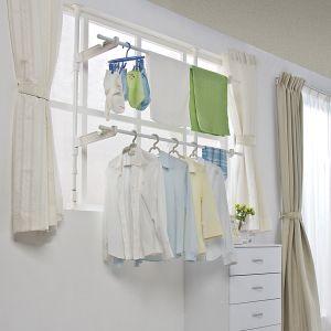 楽天市場 室内物干し 窓枠物干し 2段送料無料 Mw 190nr 物干し 洗濯