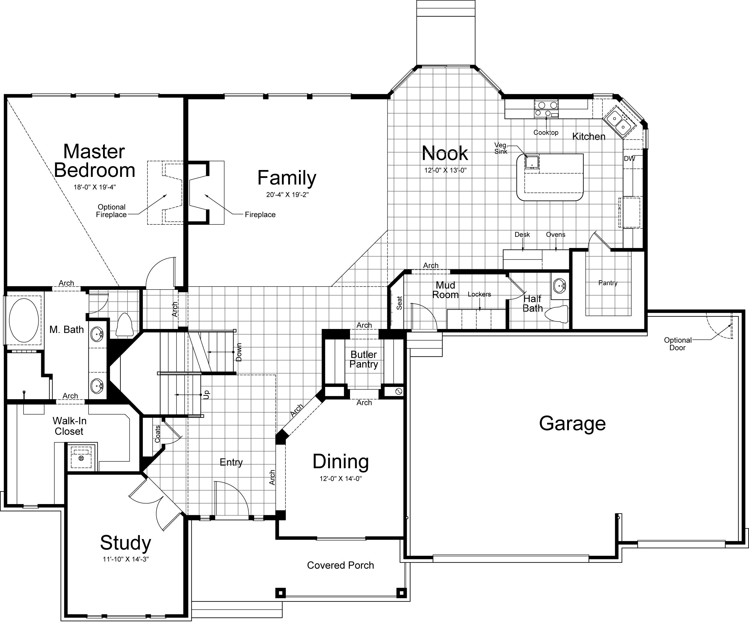 Floor Plana Few Changes Thoughlaundry On Main Floor And No Mesmerizing Dining Room Floor Plans Decorating Design