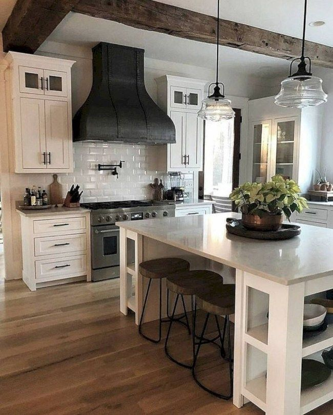 Small White Kitchen Island: 20+ Perfect Farmhouse Kitchen Decorating Ideas For 2018