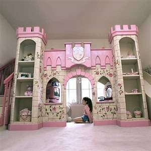 Custom Childrens Castle Loft Bunk Bed With Stairs Slide Drawers