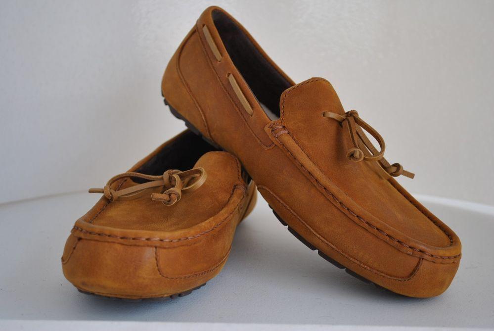 c911efd2053 Details about Men's Ugg Ascot I Do Sheepskin Leather Loafers ...