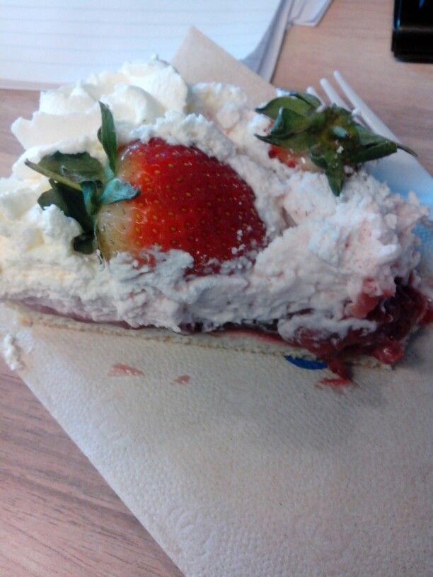 Delicious strawberry 'vlaai' a dutch pie