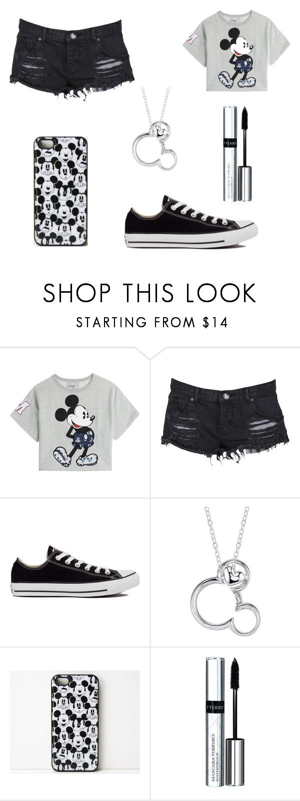 """""""Untitled #33"""" by chocolategirl13 ❤ liked on Polyvore featuring Paul & Joe Sister, One Teaspoon, Converse, Disney, By Terry, women's clothing, women, female, woman and misses"""