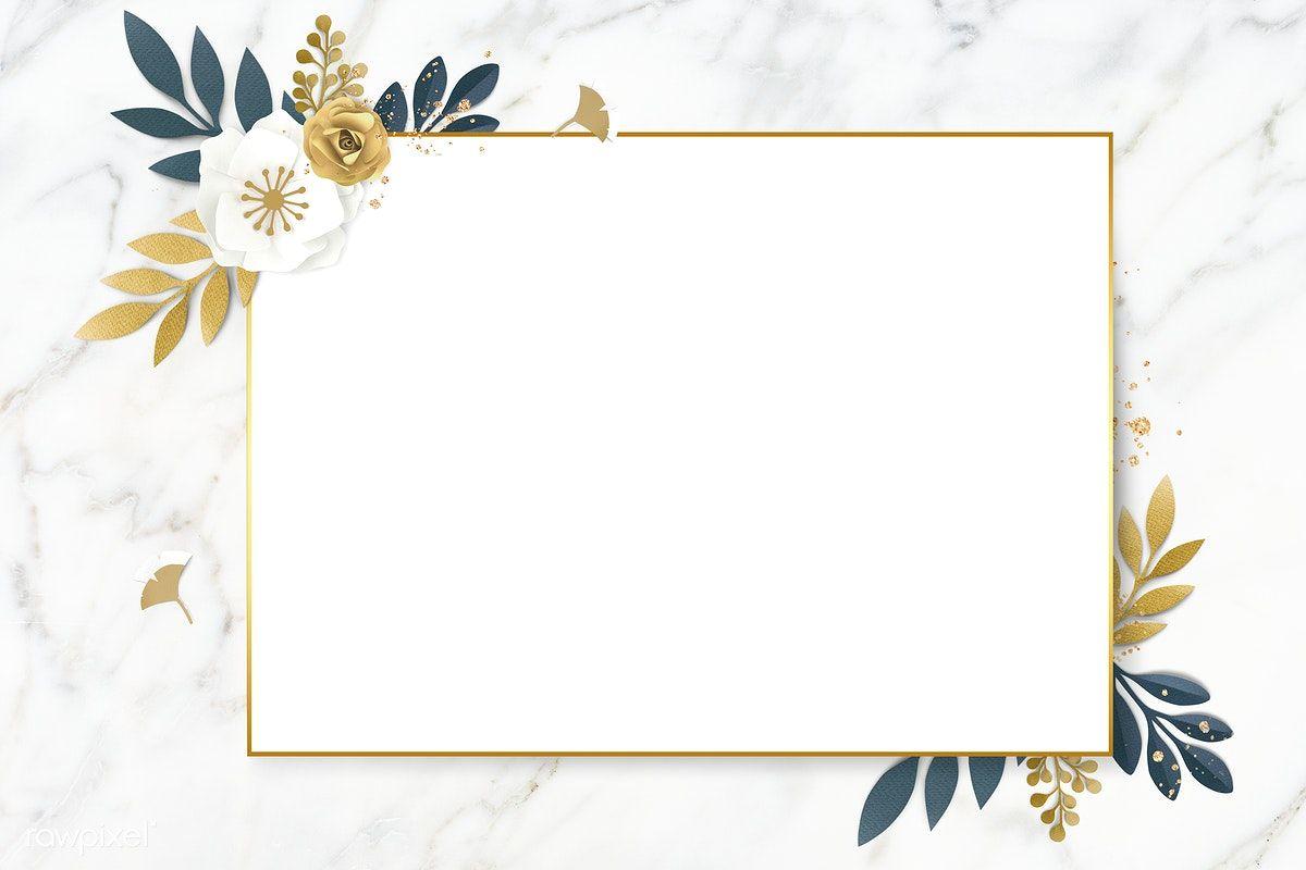 Download Premium Psd Of Rectangle Paper Craft Flower Frame Template Flower Frame Flower Background Wallpaper Floral Poster