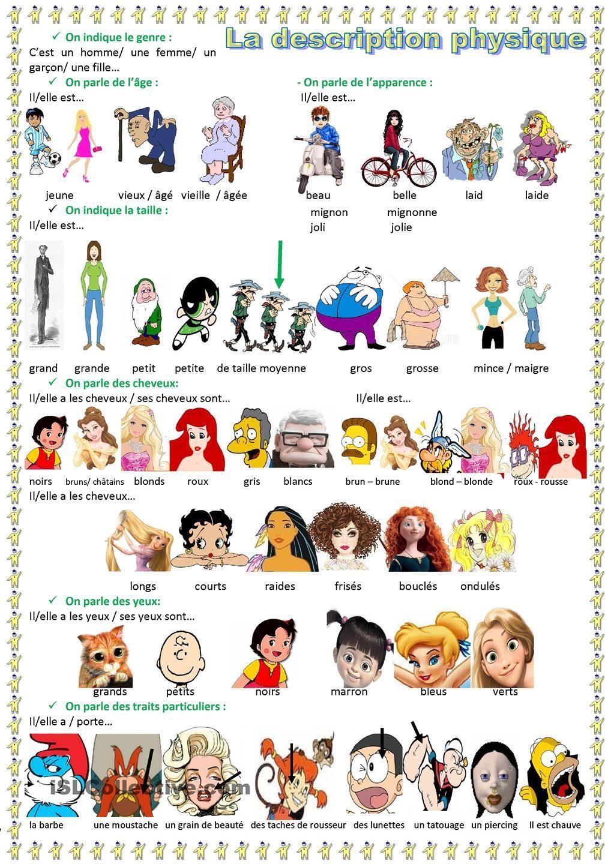Description physique d 39 une personne buscar con google for Caracteristique anglais