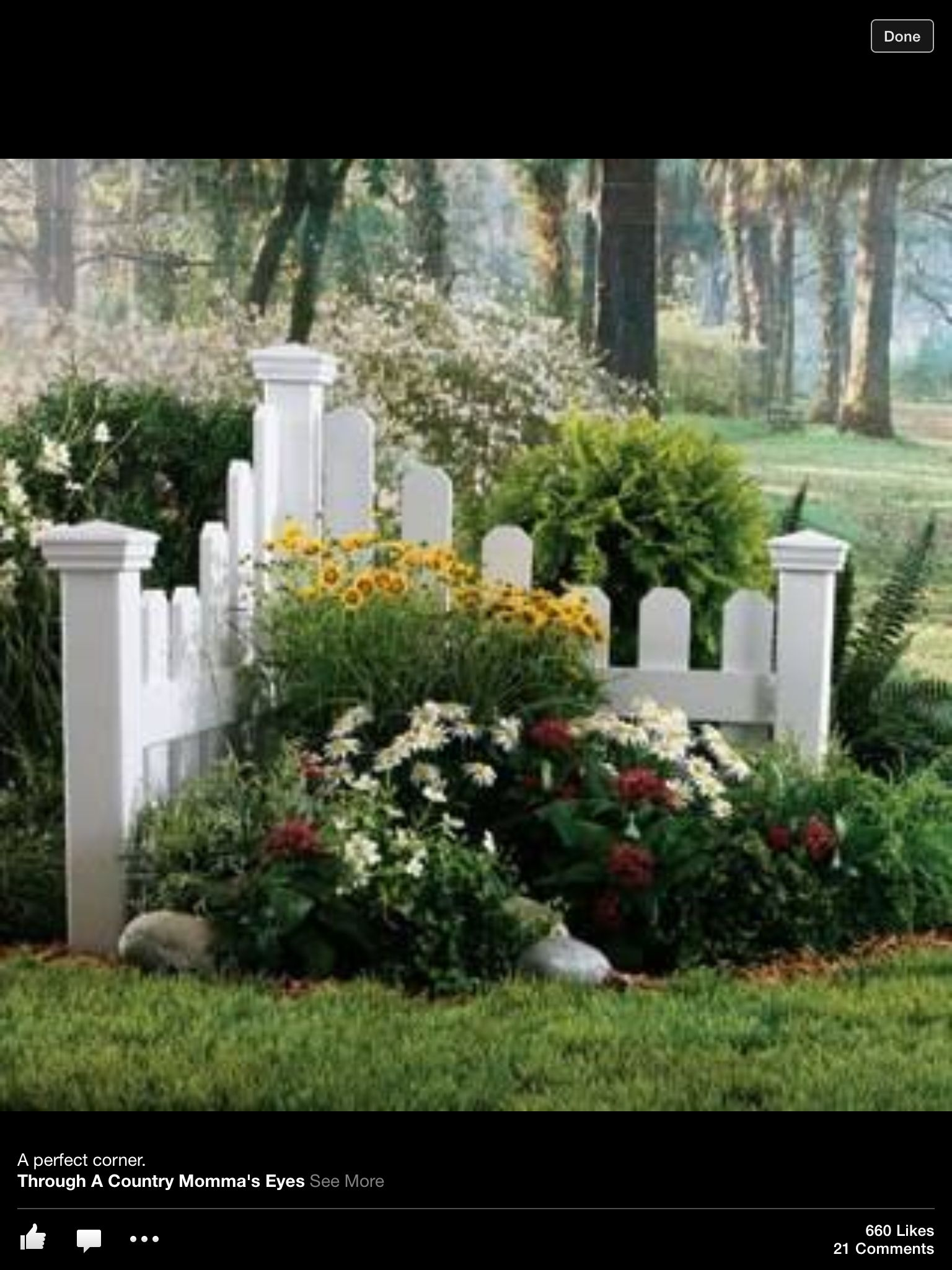 Corner Garden Gardening Landscaping Yard