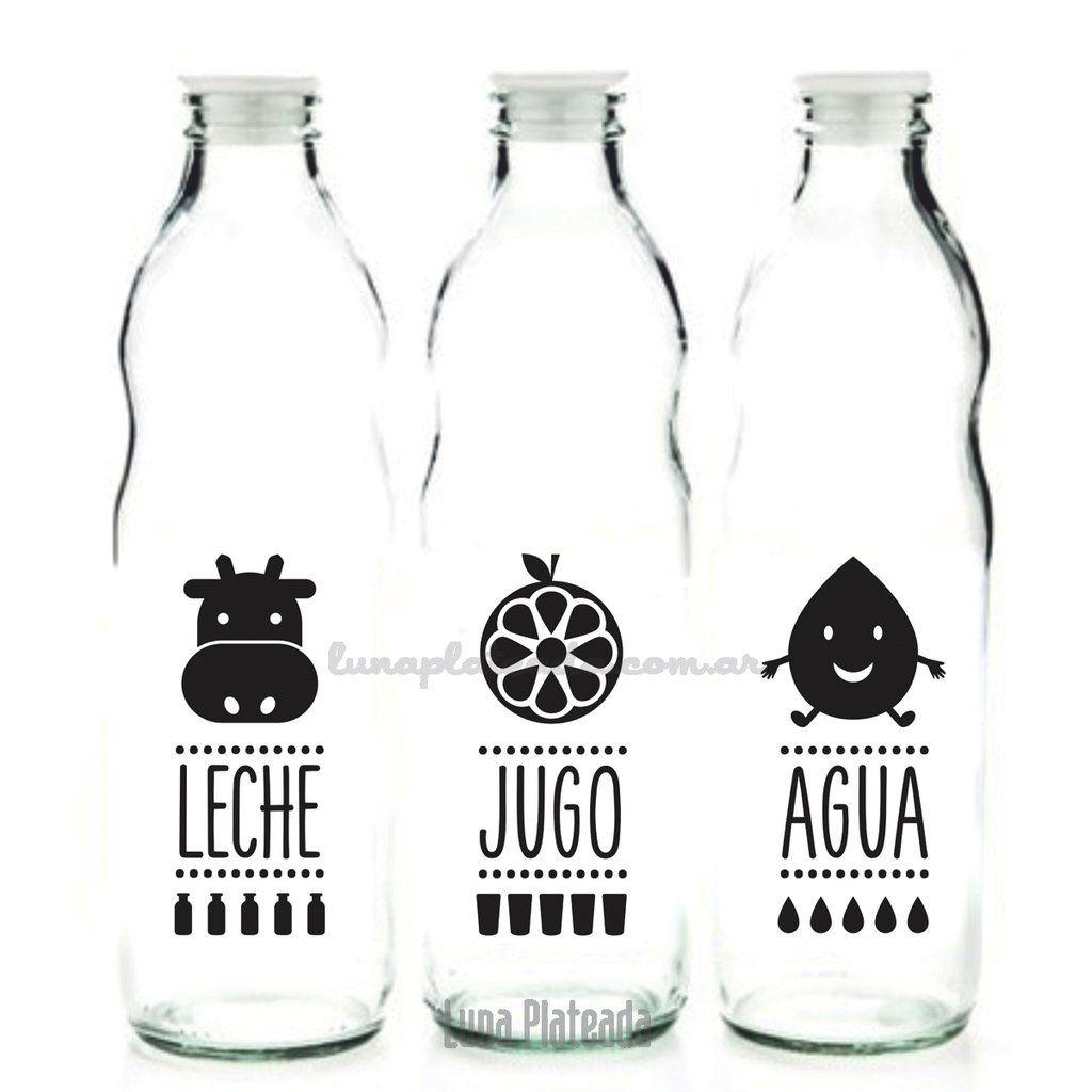 Botella De Agua Etiquetas de Vi...
