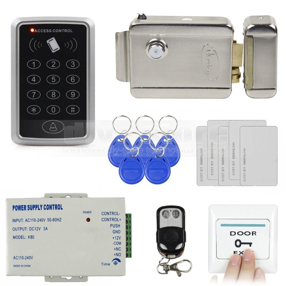 Diysecur Remote Control 125khz Rfid Access Control System Full Kit Set Electronic Door Lock Powe Access Control Access Control System Electronic Door Locks