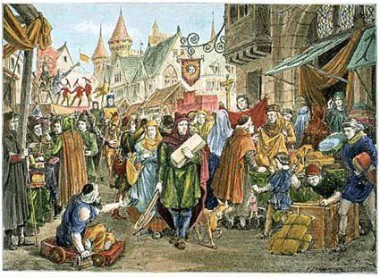 Image result for image of a medieval market fair