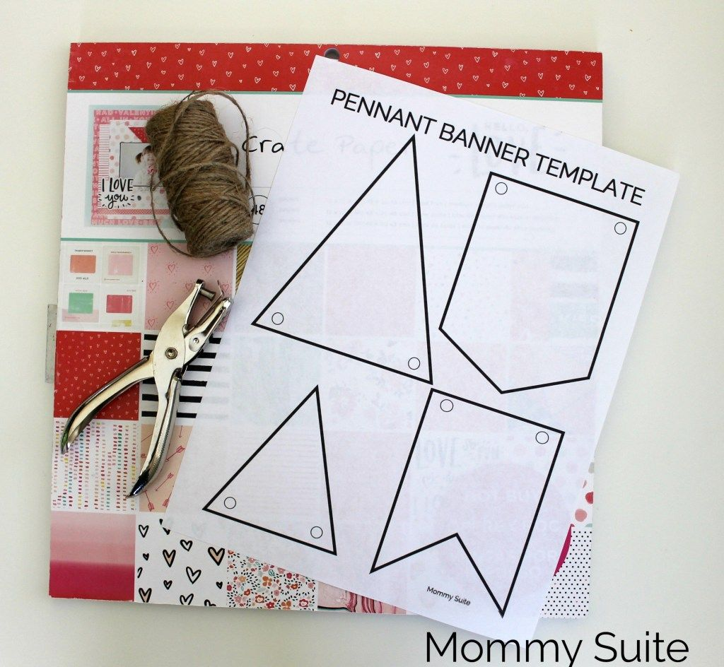 Diy Paper Pennant Banner W Free Template Pennant Banner