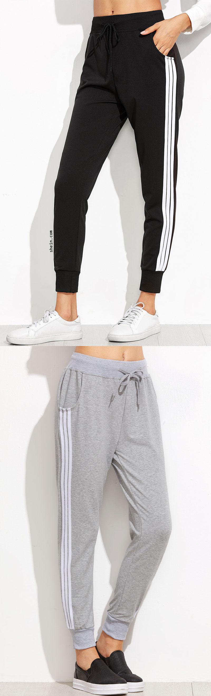 outlet store 826b7 79332 Striped Side Sweat Pants Pantalones Adidas, Pantalones De Cuero, Ropa  Deportiva Adidas, Moda
