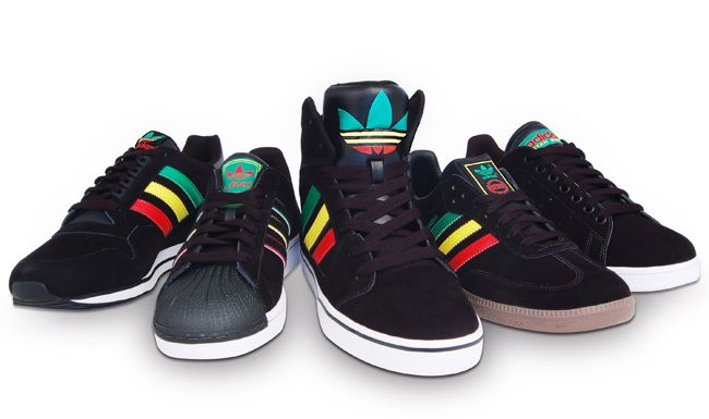 new styles 992e5 a33e1 Reggae legend Bob Marley was known for rocking adidas and the label plays  on that fact to create the Rasta Pack inspired his culture and religion.  Five sne