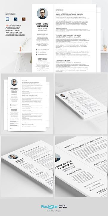 Resume Template Synnove Pinterest Resume writing, Template and - professional cv writing samples